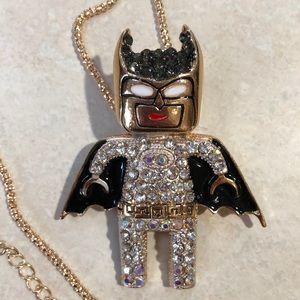 Betsey Johnson Batman Long Necklace